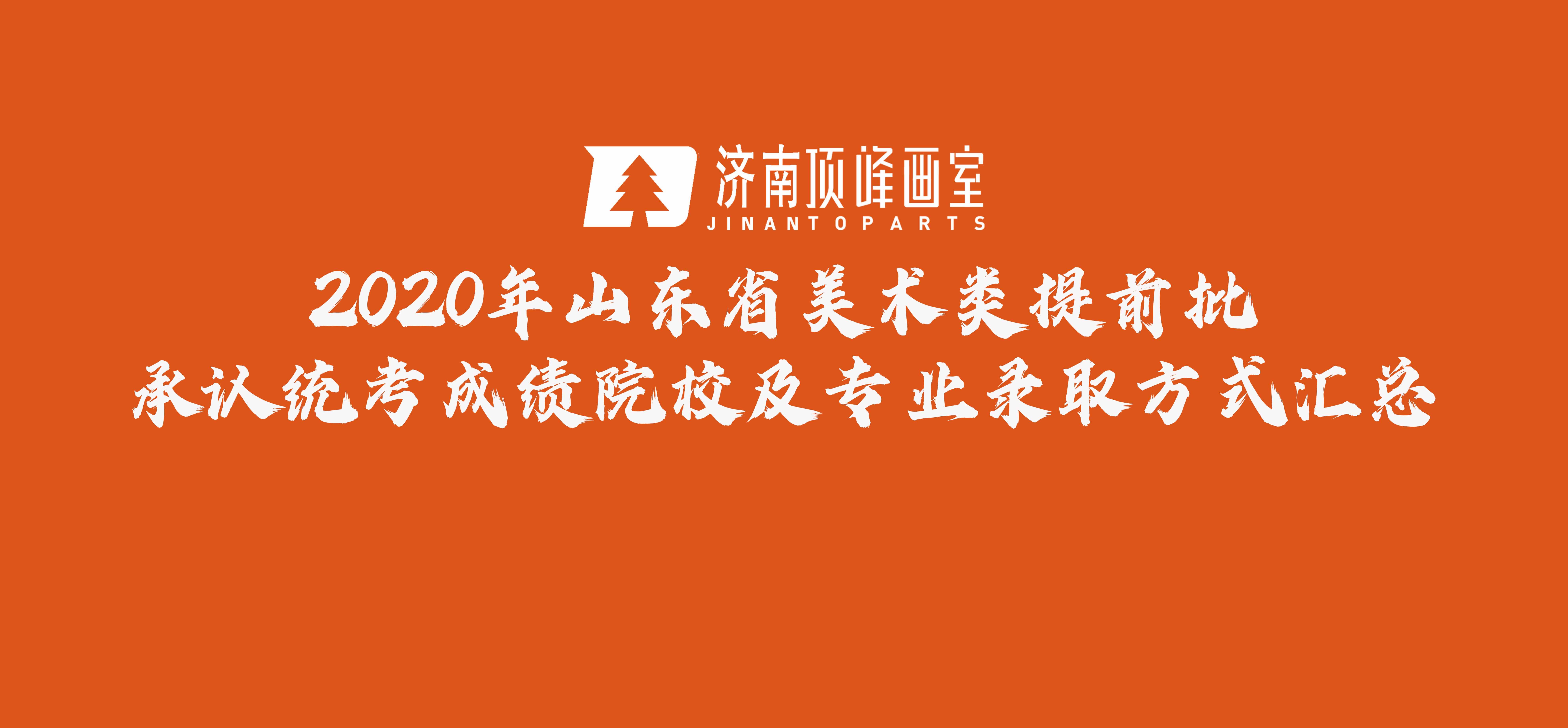 2020年山东省美术类提前批承认统考成绩院校及专业录取方式汇总